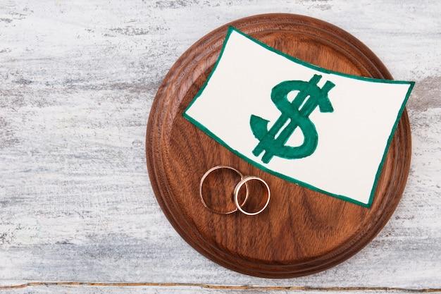 Концепция свадебных расходов.