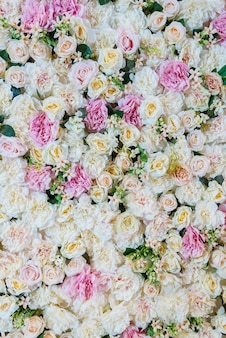 Wedding flower decoration background