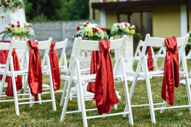웨딩 꽃 장식. 혼례. 연회. 결혼식 장식.