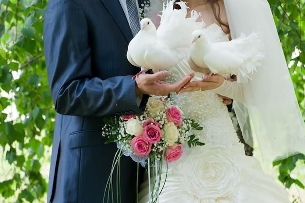Wedding image of bride and groom