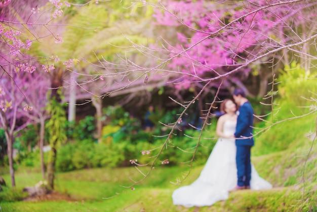 봄 시즌의 결혼식