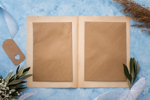 Wedding invitation card on table