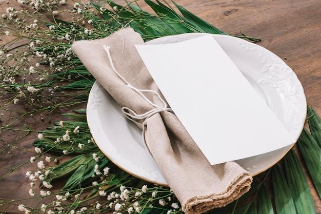 Wedding menu concept