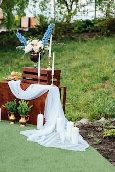 Wedding photo zone. decoration.