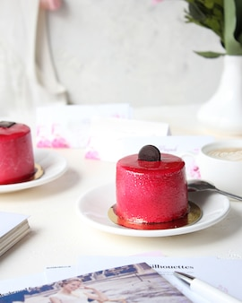 Wedding planning with coffee and cake