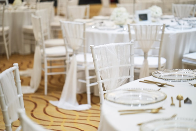Wedding Reception Dinner Table Setup For Luxury Wedding Celebration