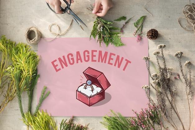 結婚指輪ボックス提案グラフィックコンセプト 無料写真