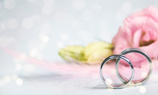 Wedding ring in the flower