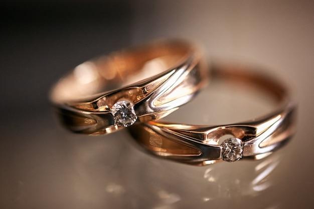 Wedding rings close up