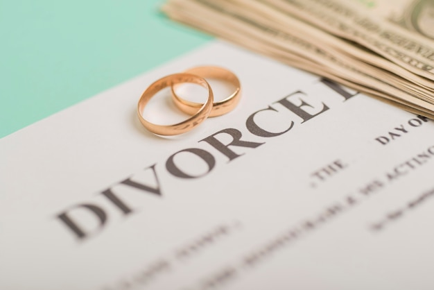 Wedding rings on divorce decree