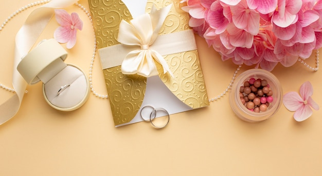 Wedding rings in an envelope