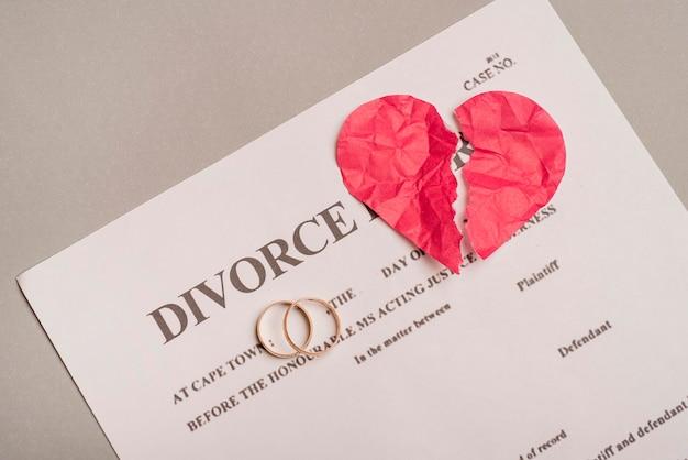 이혼 법령에 결혼 반지