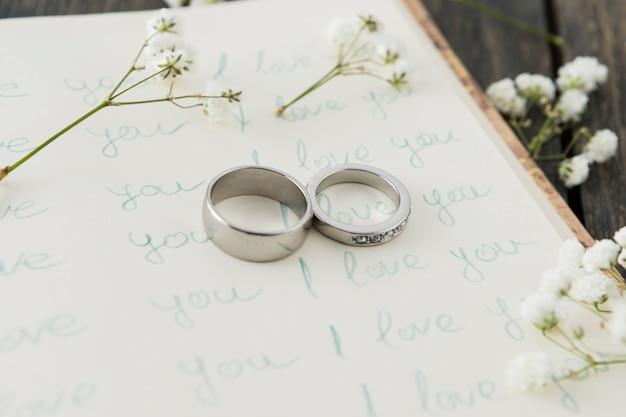 장신구와 결혼 반지