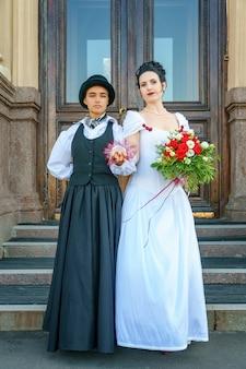 Свадьба однополых браков двух женщин
