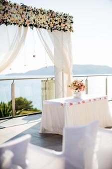 Wedding setting