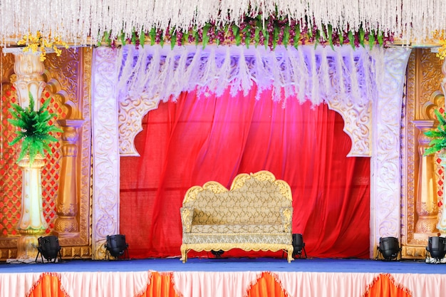 Wedding  stage of flowers disign
