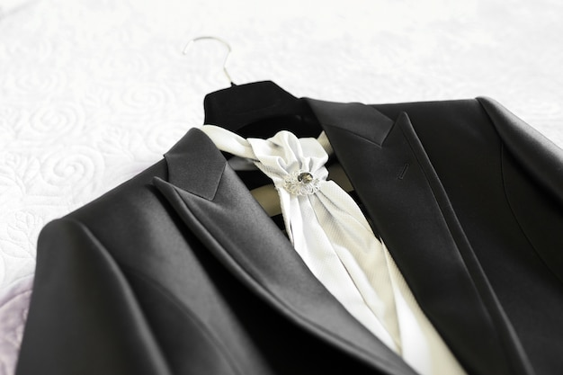 Wedding suit and accessories for the groom