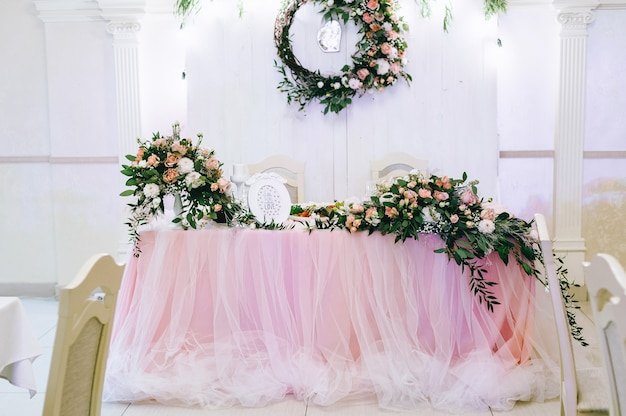 Wedding table for brides