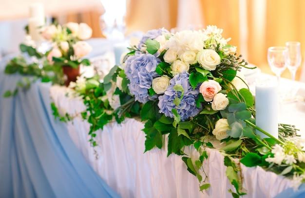 Wedding table settings.