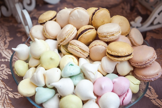 Wedding tasty decorations. candy bar. sweet table