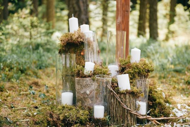Wedding wooden decorative elements.