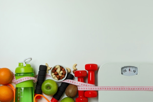 Weight loss accessories isolated
