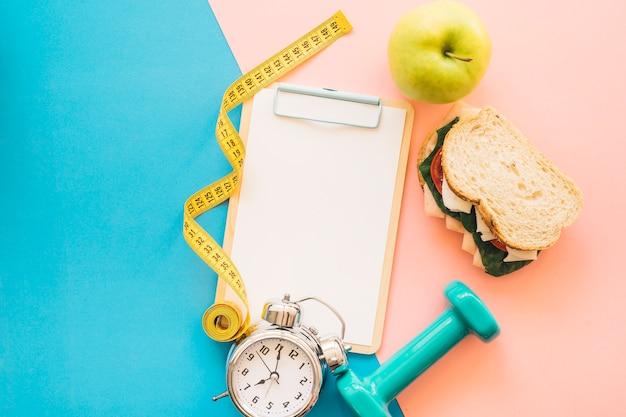 Композиция с потерей веса со здоровой пищей