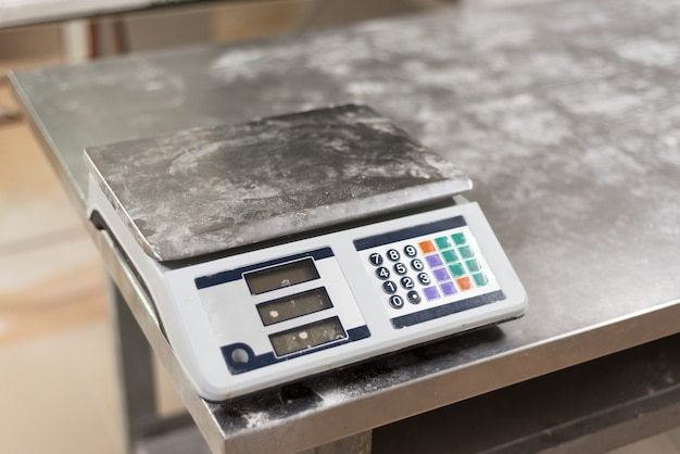 Weight scale in the bakery