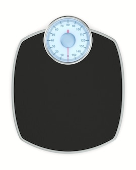 Weight scale floor on white background. isolated 3d illustration