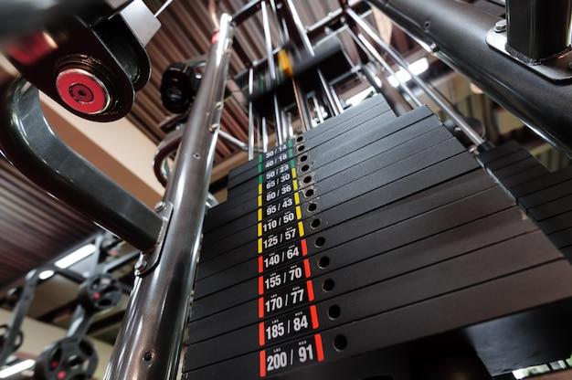 Weights in gym machine