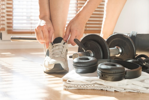 Weights and more accessories for fitness home