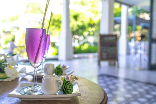 Welcome drink at hotel or resort