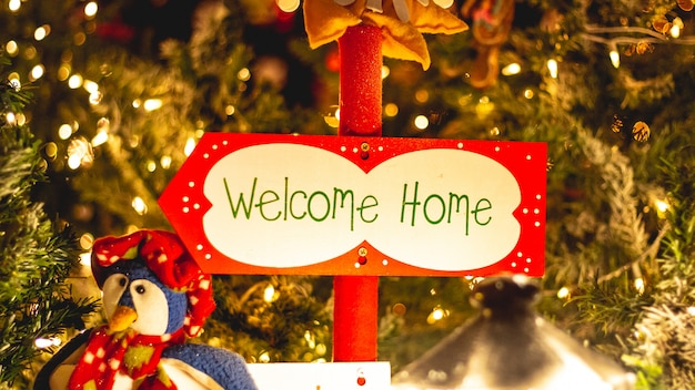 Welcome home christmas decoration