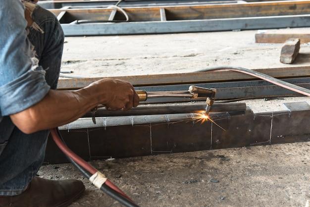 Welders were welding