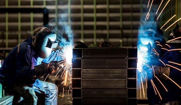 Welding steel structure
