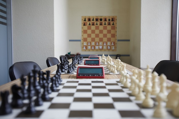 Well organized chess classroom