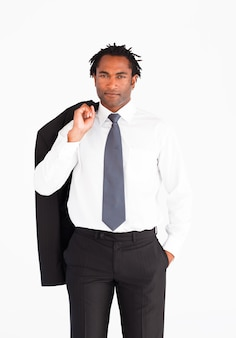 Welldressed businessman looking at the camera