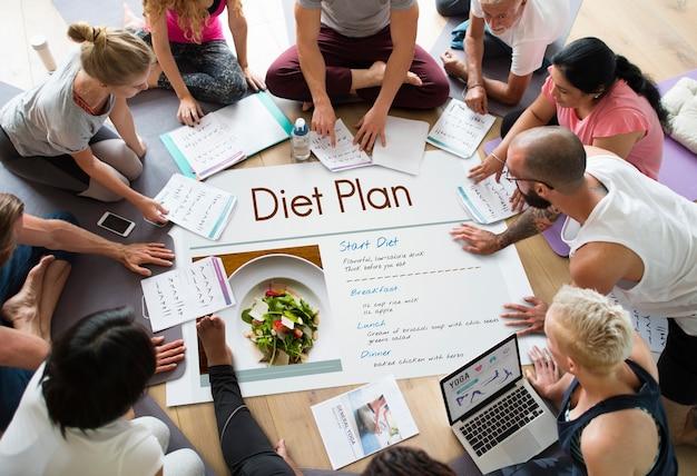 웰빙 다이어트 계획 건강한 생활 아이콘