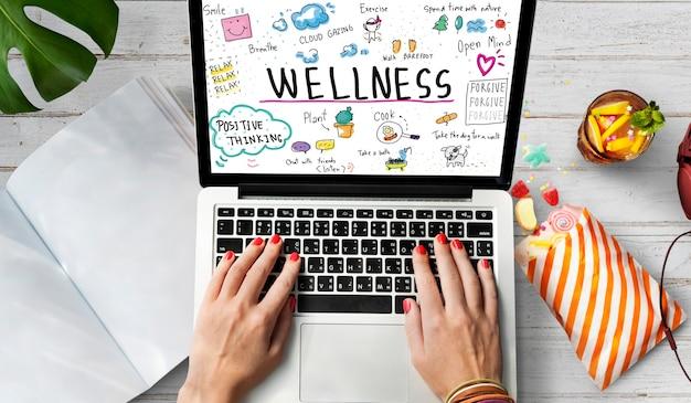 Benessere esercizio salute stile di vita nutrizione concept