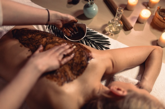 Wellness and spa concept with woman