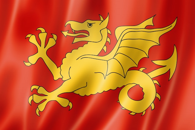 Wessex region flag, uk