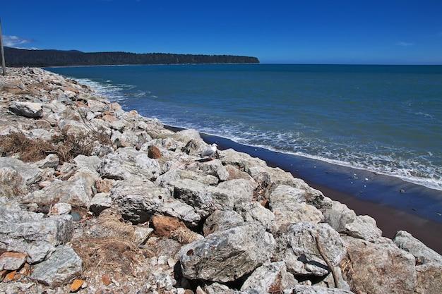 ニュージーランドの南島の西海岸