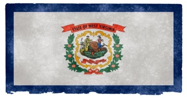West virginia grunge flag