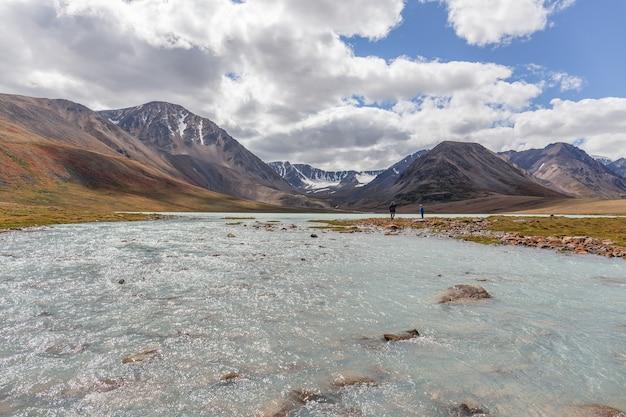 Western mongolia mountainous landscape