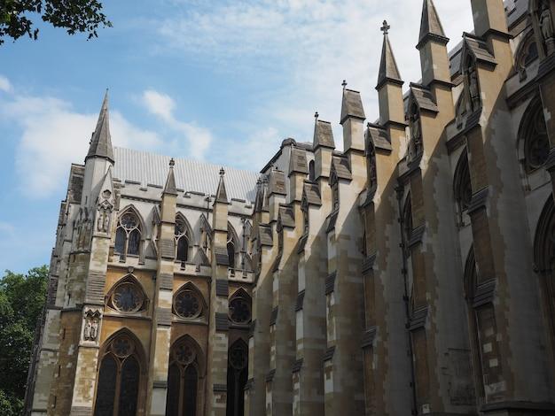 Westminster abbey church in london