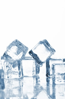 Wet and cold ice cubes