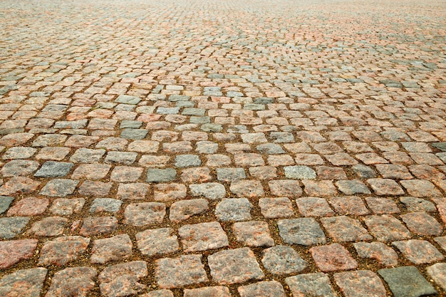 Wet gravel on ground