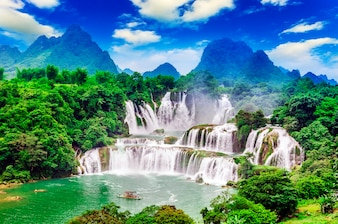 Wet scenic waterscape countryside clean flow