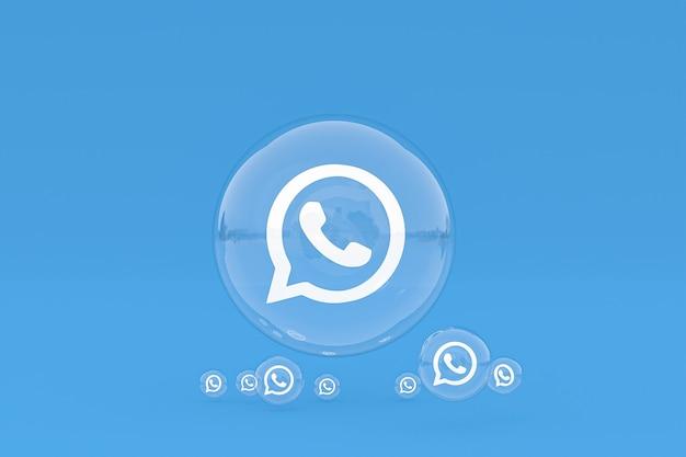 Значок whatapps на экране смартфона или мобильного телефона 3d визуализации на синем фоне