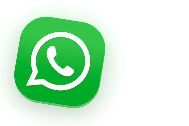 Whatsappアプリケーションの緑のロゴアイコン3dレンダリング